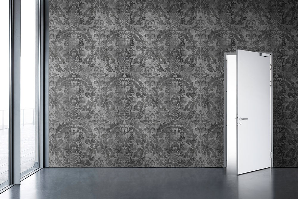 Urban Concrete Damask Wallpaper Dark Accessories Astyle Art