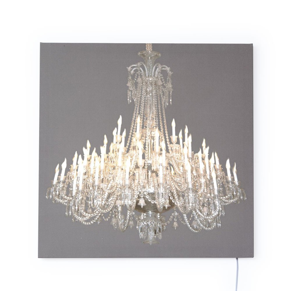 Grand Chandelier Glo-Canvas Grey