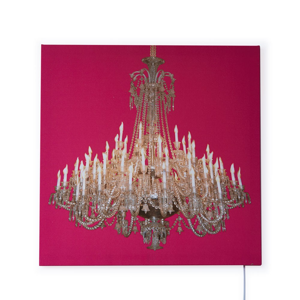 Grand Chandelier Glo-Canvas Pink