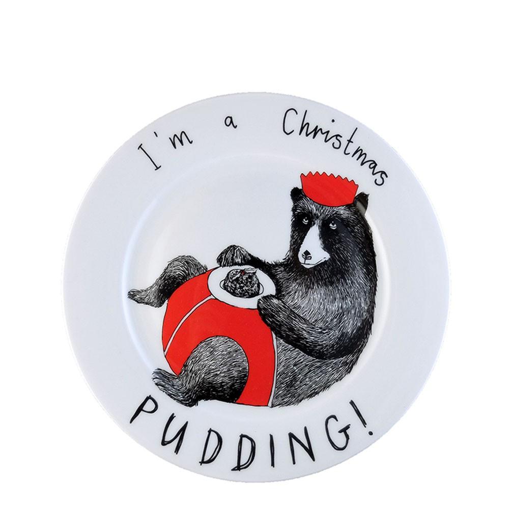 'I'm a Christmas Pudding' Side Plate