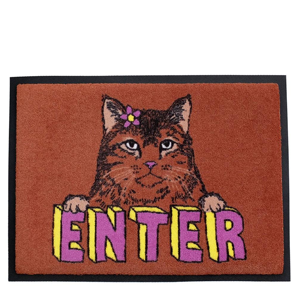 'Enter Cat' Welcome Door Mat