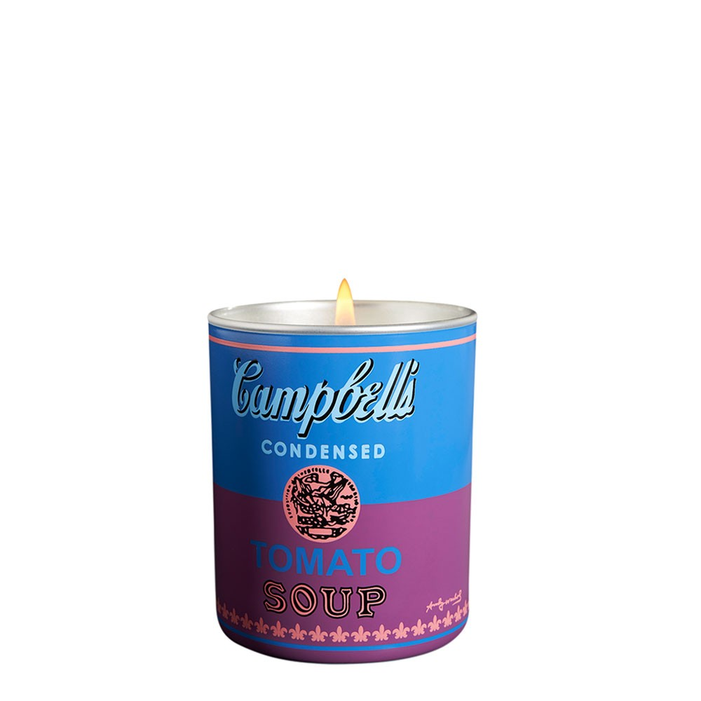 Andy Warhol Campbell Scented Candle - Blue/Purple