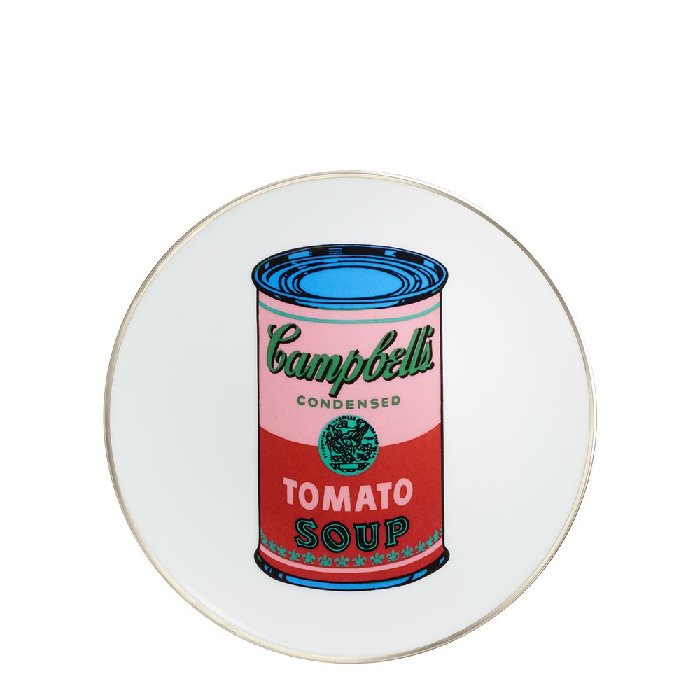 Andy Warhol Campbell Plate - Red/Pink