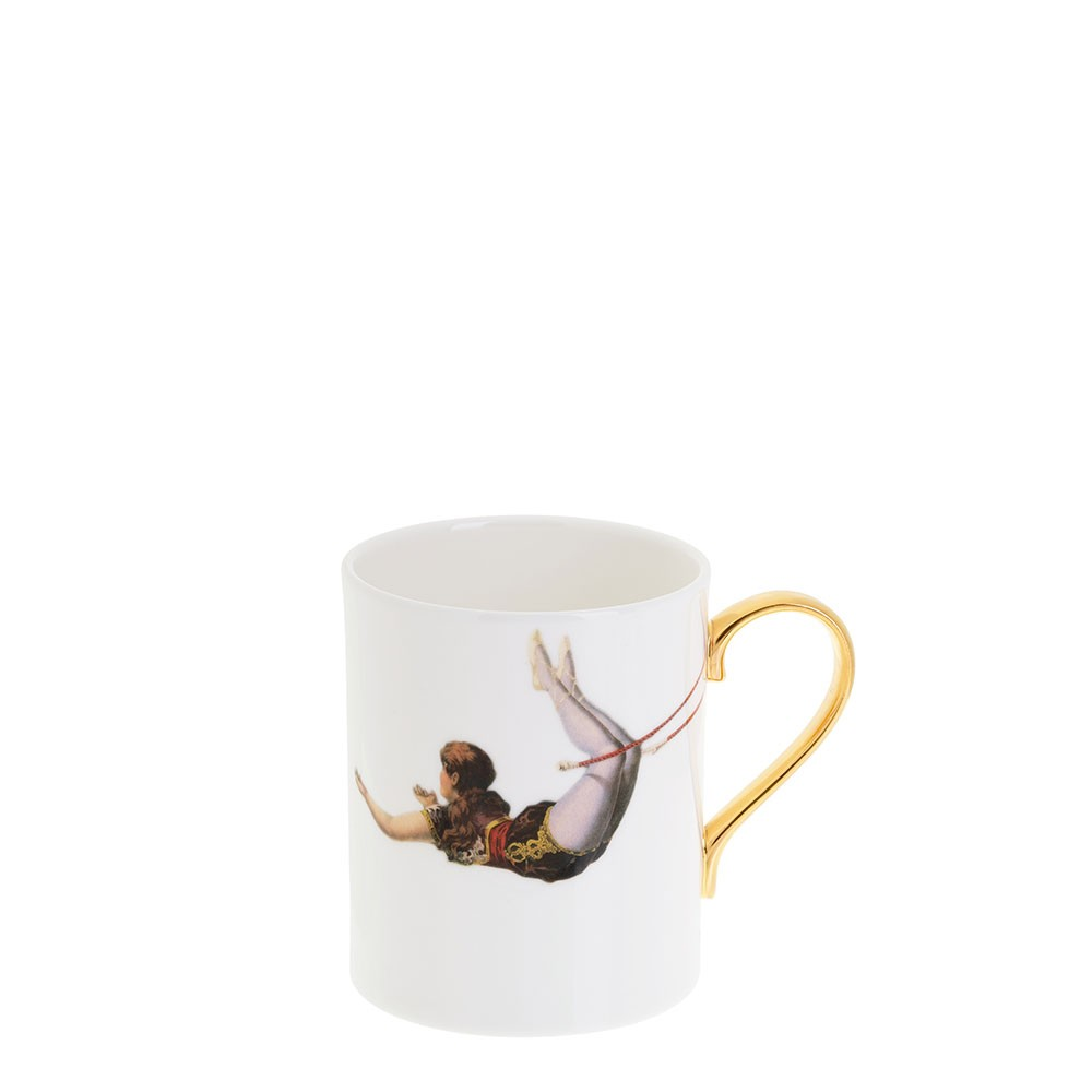 Trapeze Girl Bone China Mug