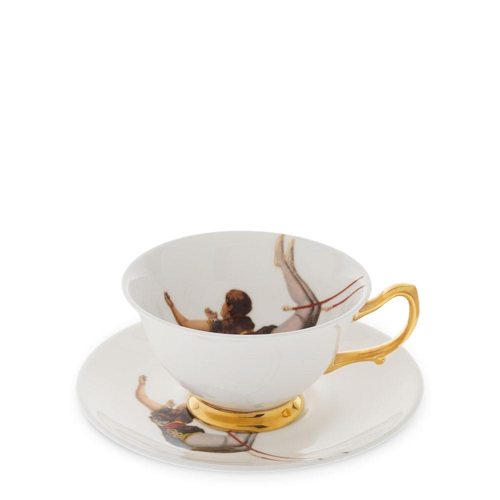 Trapeze Girl Teacup and Saucer