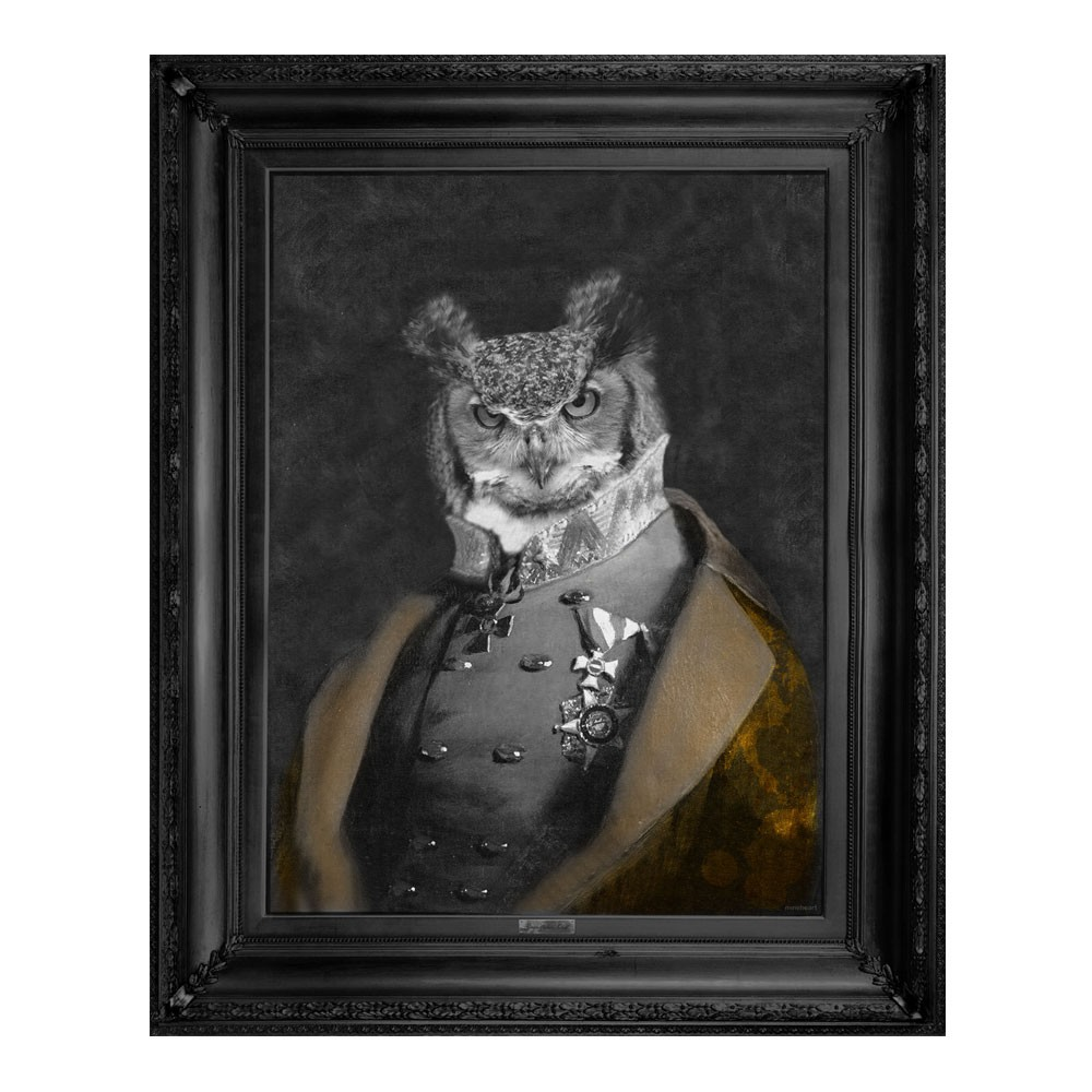 'Grandfather Olaf' Gold Edition Framed Canvas Print