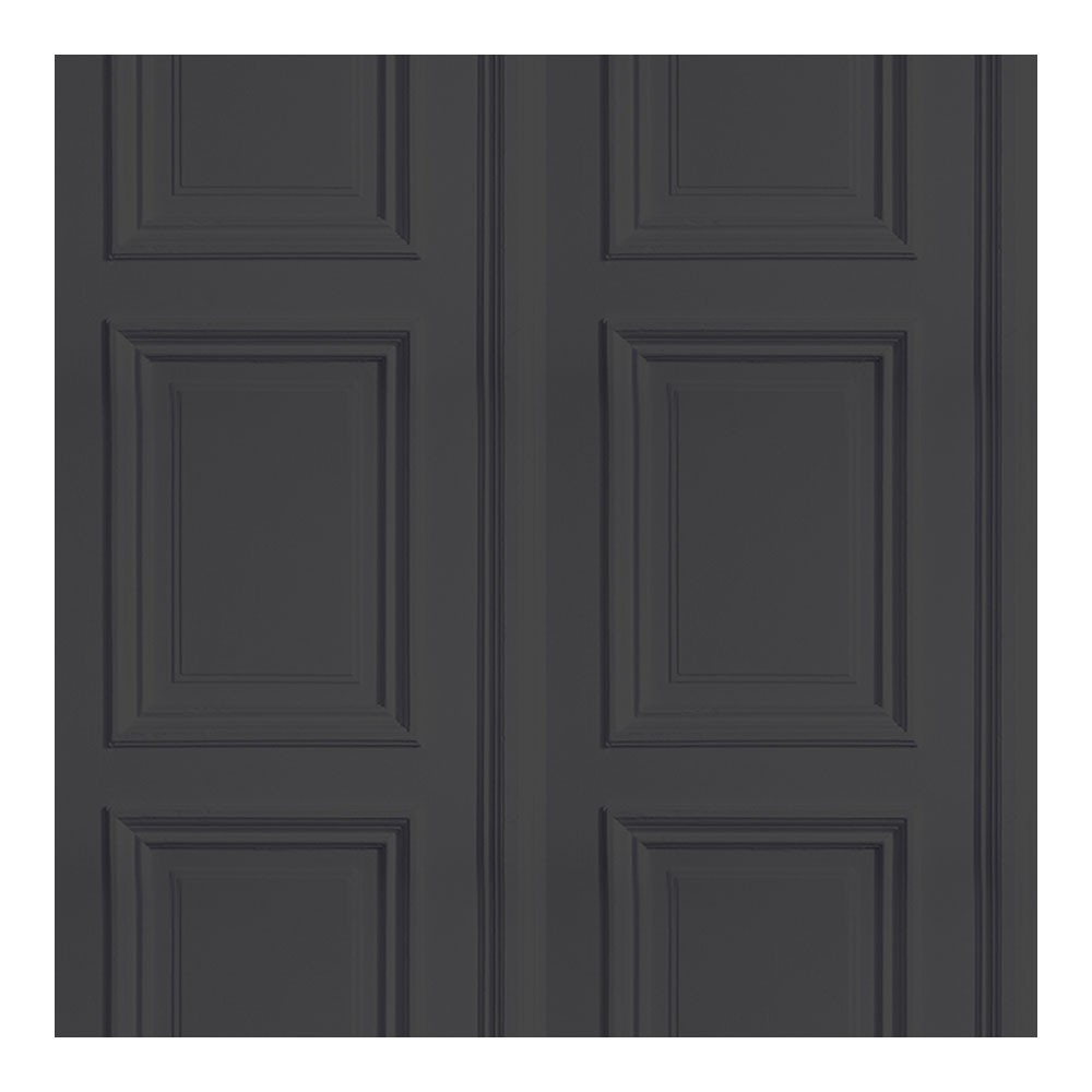 Coloured Panelling Wallpaper Anthracite