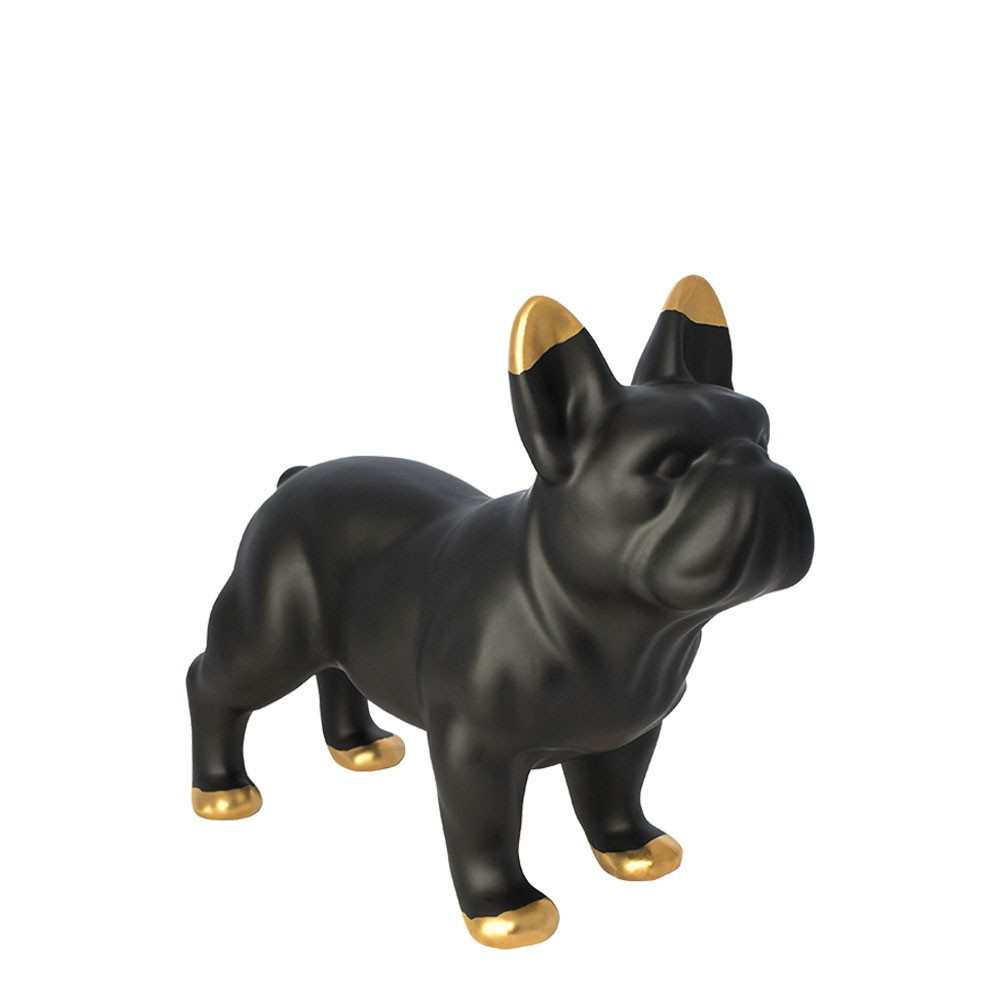 Black Ceramic Bulldog