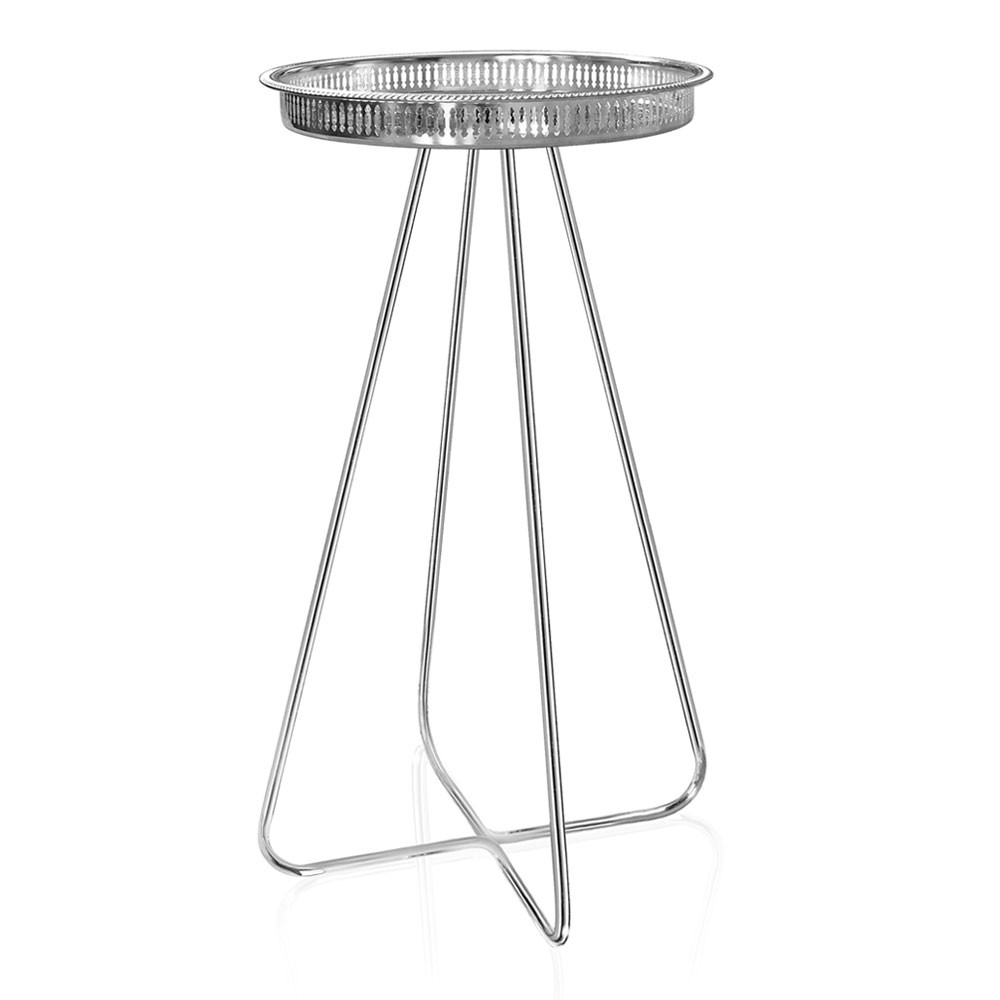 Casablanca Table TALL (Silver Tray with Chrome Legs)