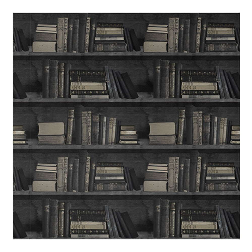 Bookcase Wallpaper Dark