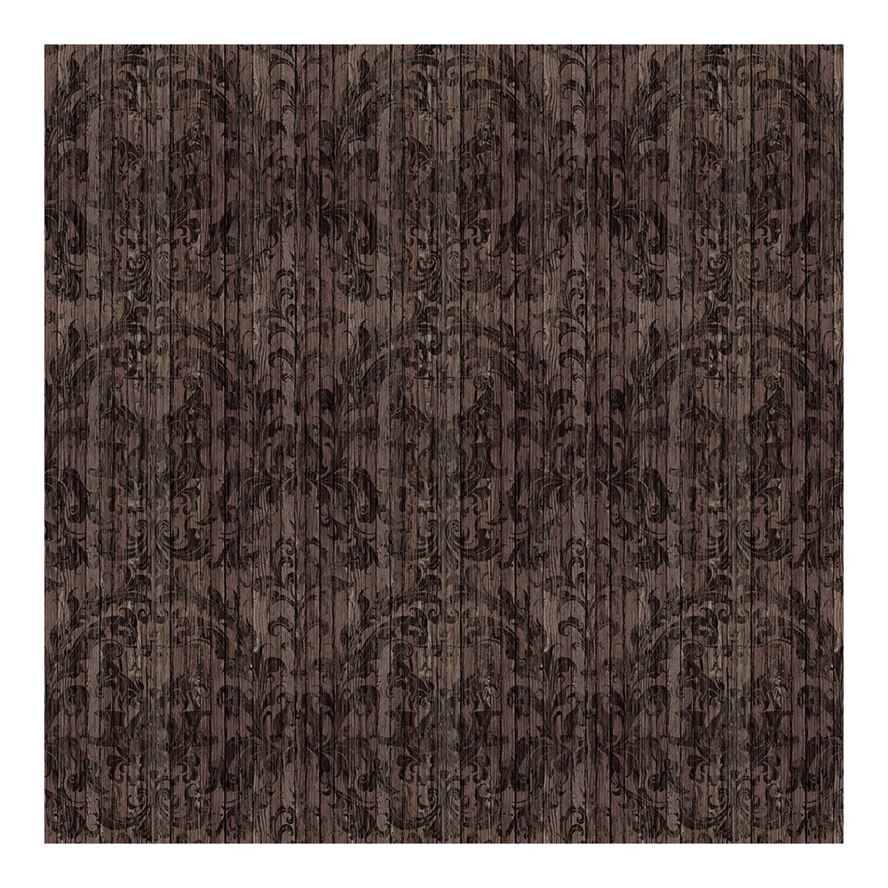Driftwood Damask Wallpaper Dark