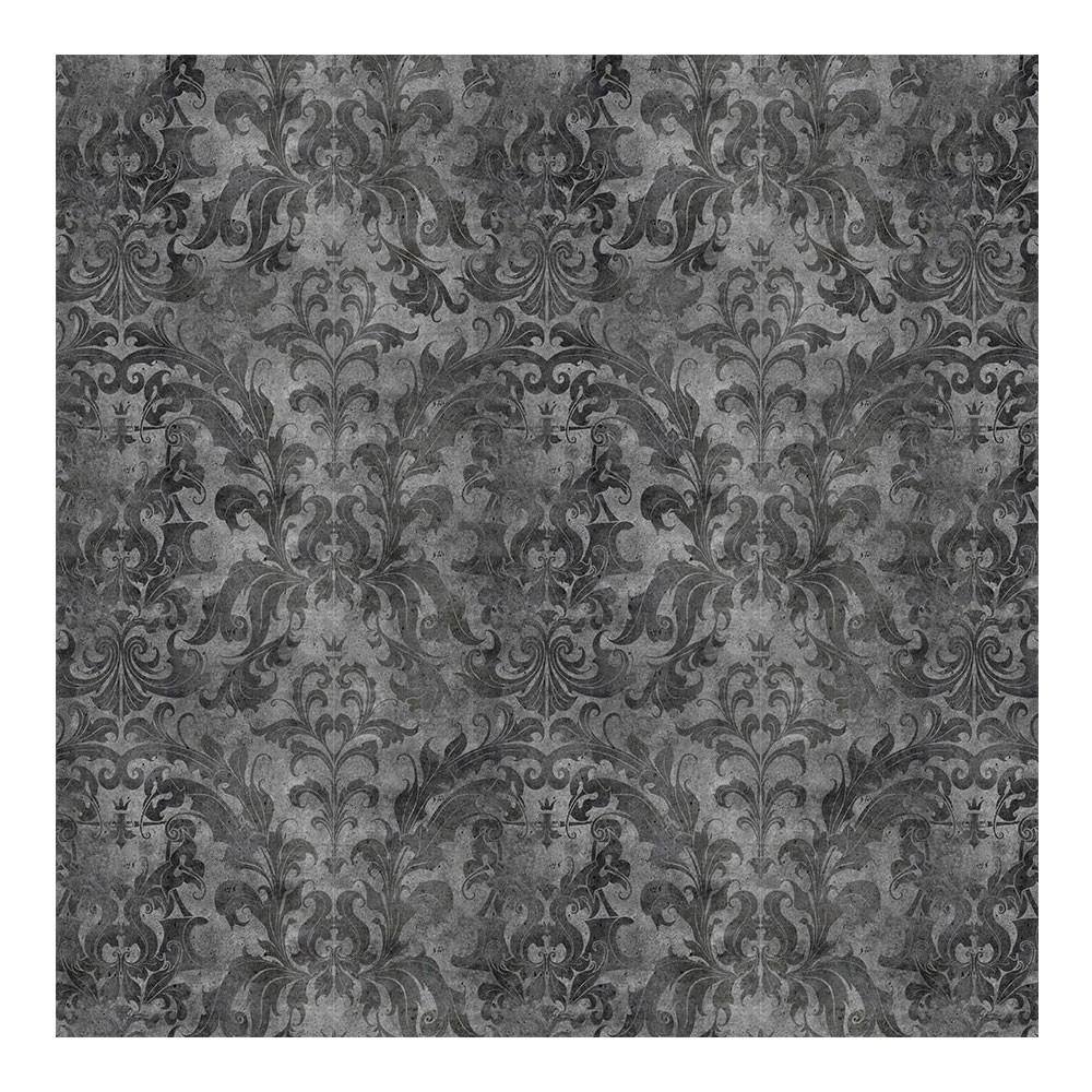 Urban Concrete Damask Wallpaper Dark