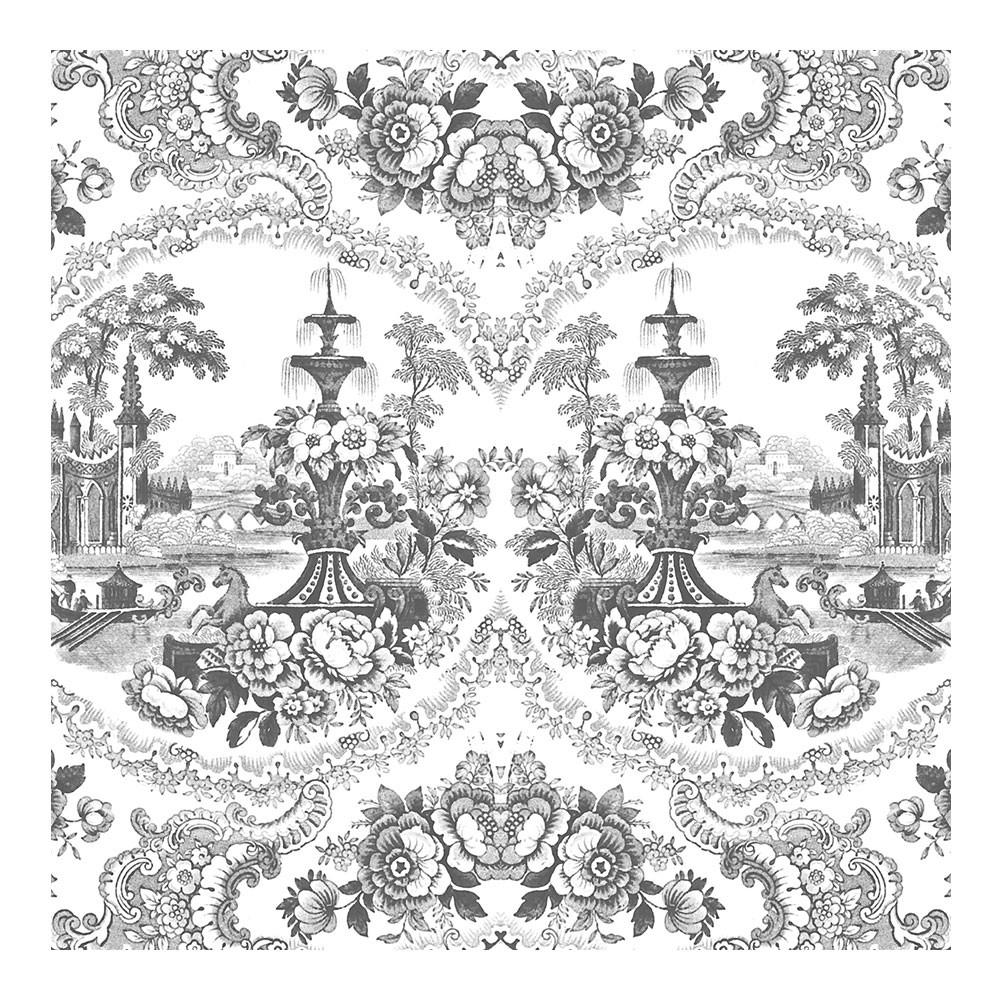 Delft Baroque Wallpaper - Black