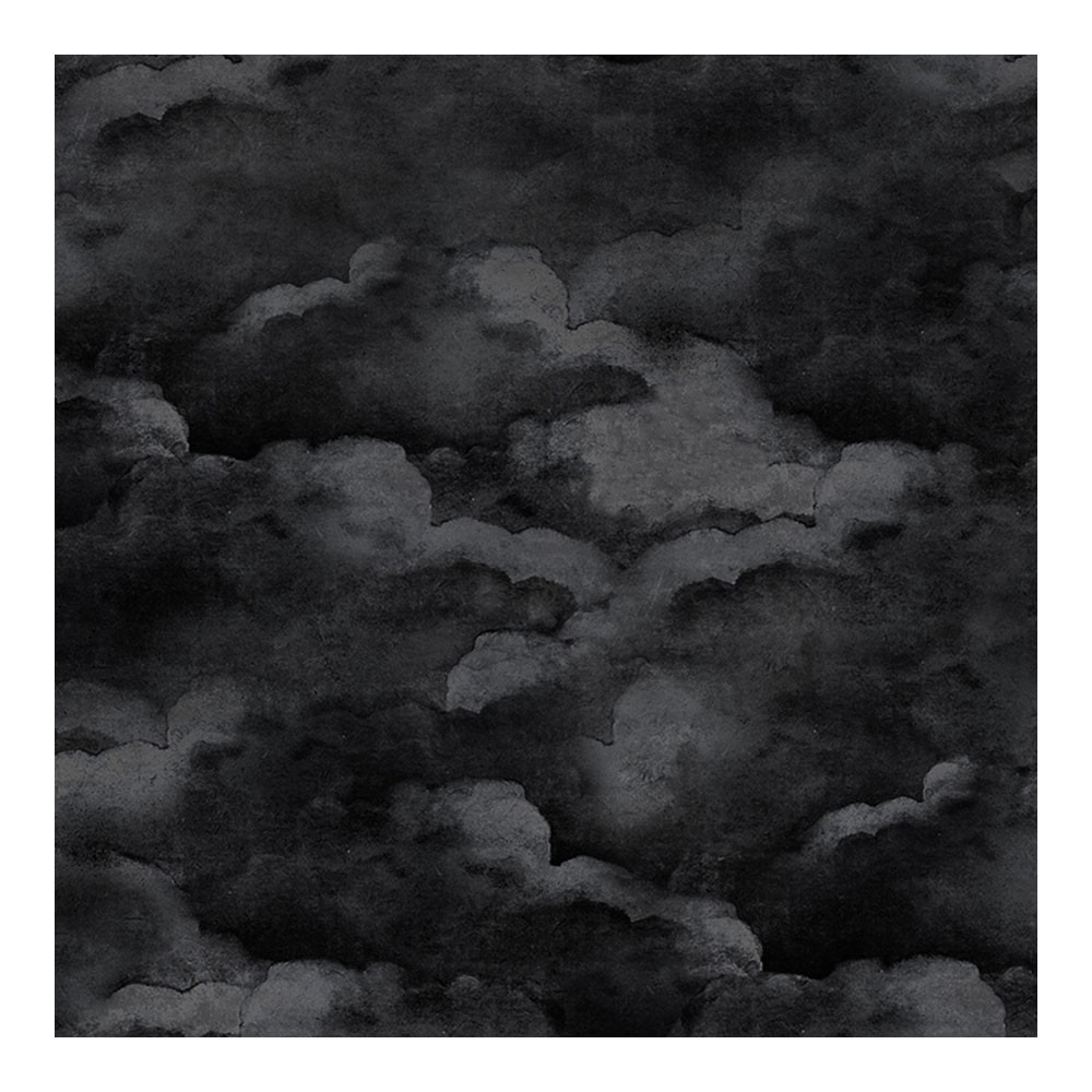 Dusty Clouds Wallpaper Night Black