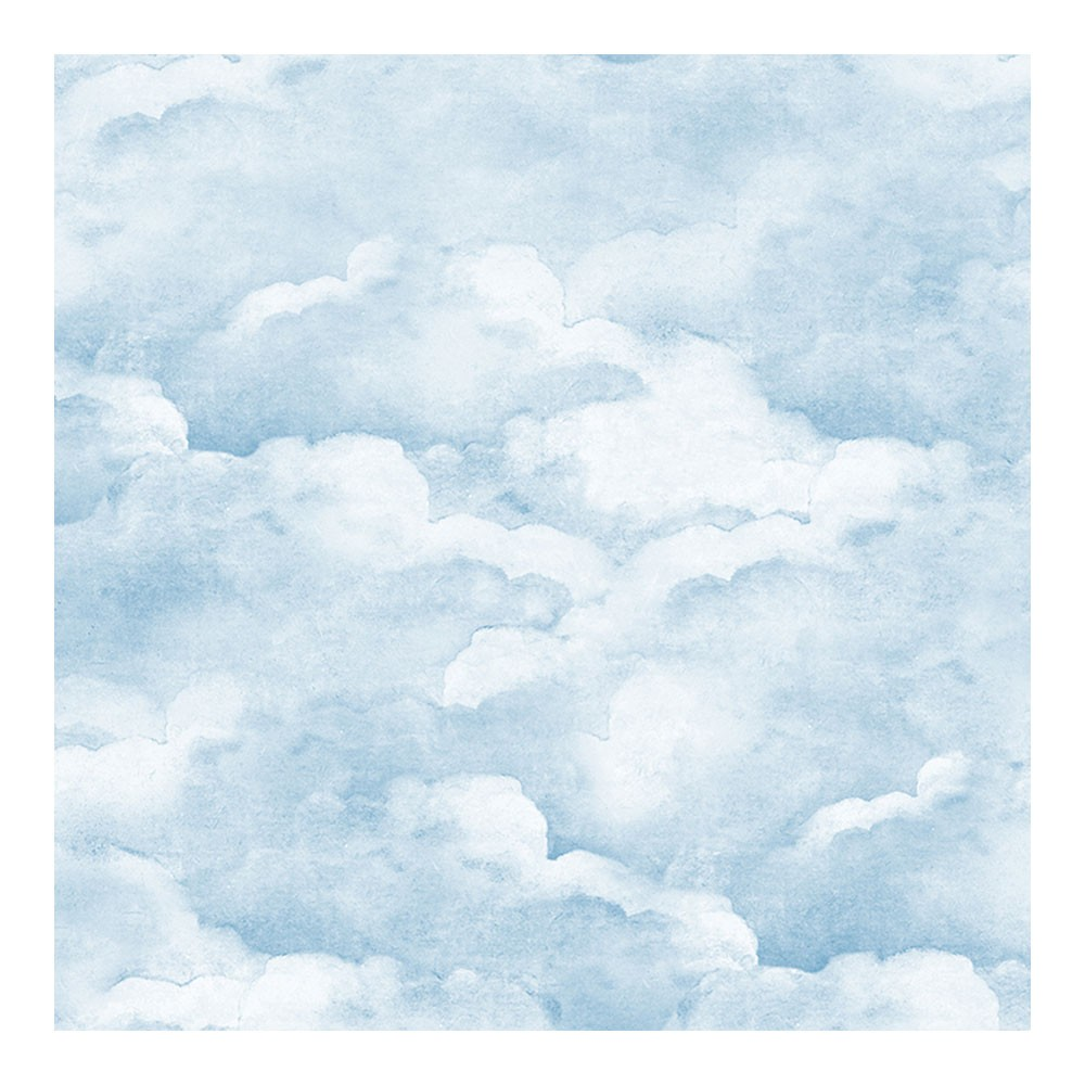 Dusty Clouds Wallpaper Smokey Blue