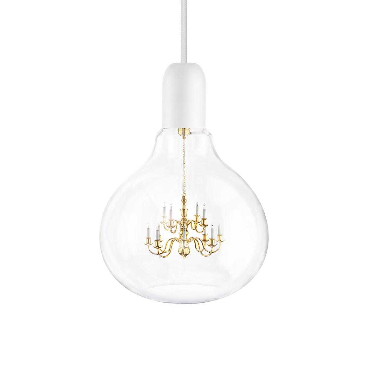 King Edison Pendant Lamp White