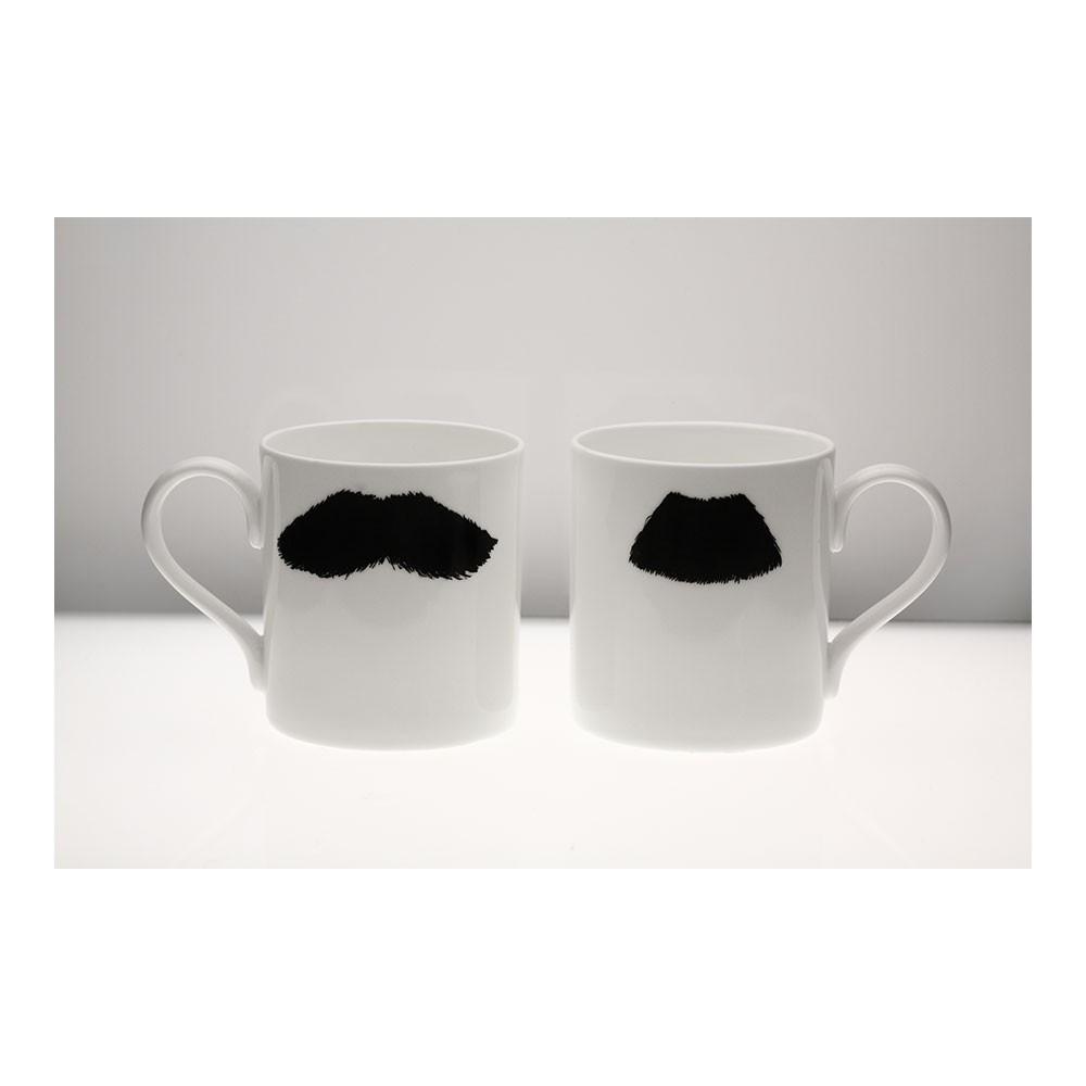 Moustache Mug XL - Mustafa Chaplin Black