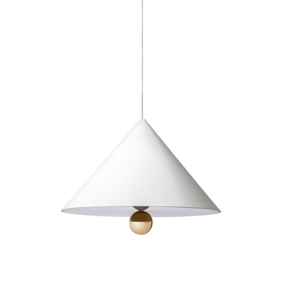 Cherry Pendant Lamp - White/Gold (Large)
