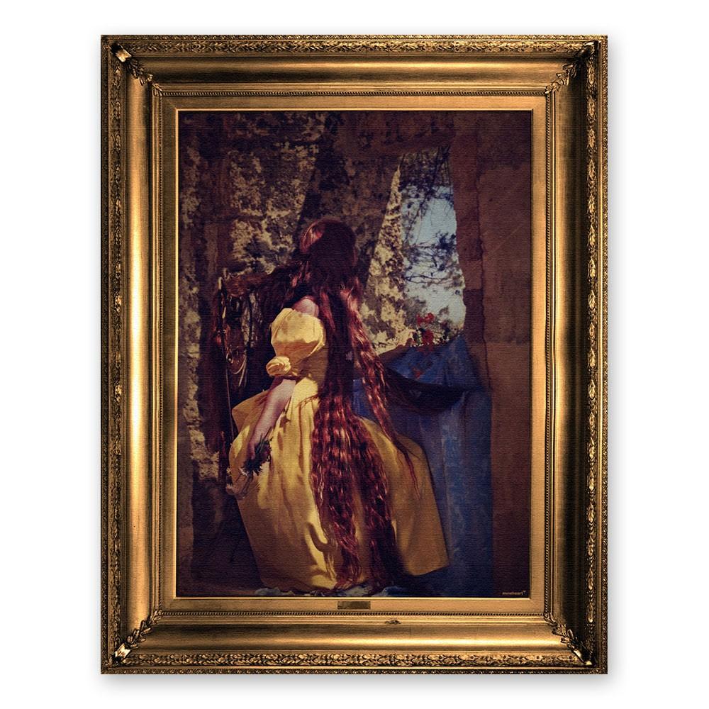 'Rapunzel' Ornate Framed Canvas Print
