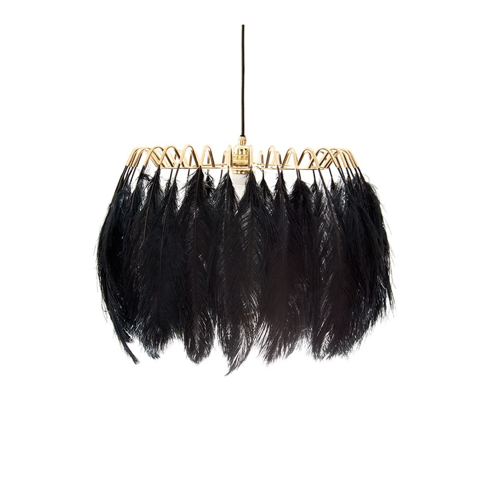 Feather Pendant Lamp - Black