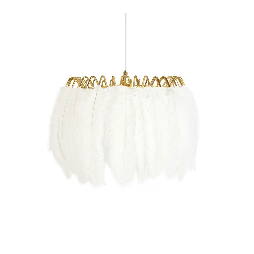 Feather Pendant Lamp - White