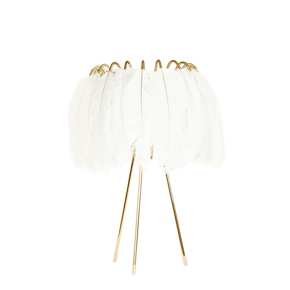 Feather Table Lamp - White