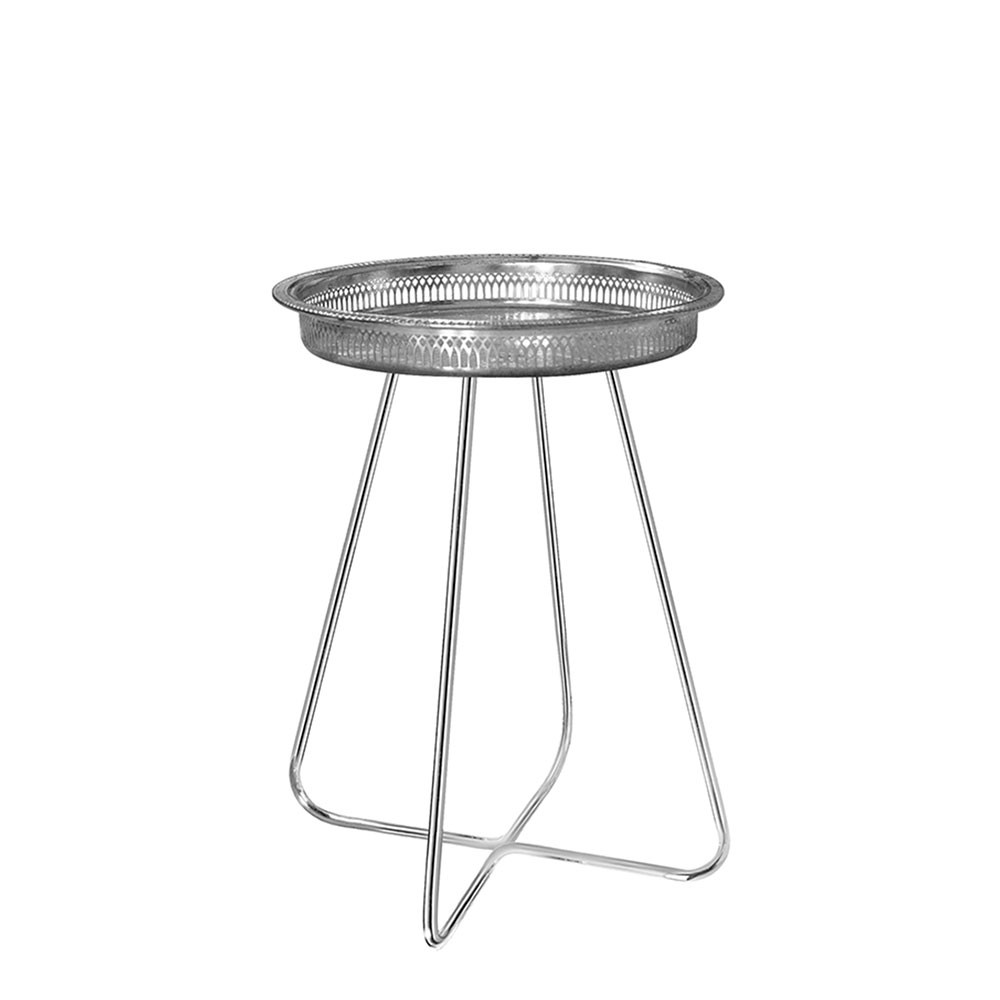 Casablanca Table MEDIUM (Silver Tray with Chrome Legs)