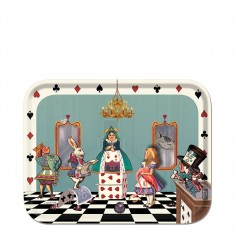 Alice in Wonderland tray – Alice in the court of hearts