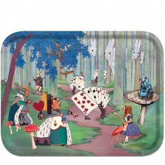 Alice in Wonderland tray – Alice lost in the woods