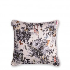 Character Tonal Polka Cushion (Grey)