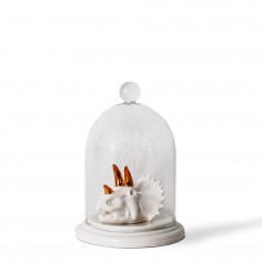 Triceratops skull Bell Jar Ring Holder