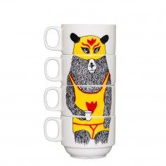 El Guapo Coffee Cups (4Cup Set)