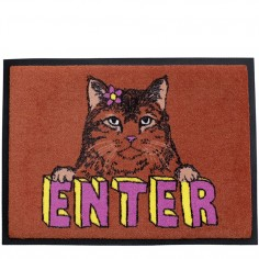 'Enter Cat' Welcome Door Mat