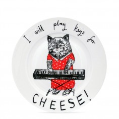 """Keys for Cheese"" Side Plate"