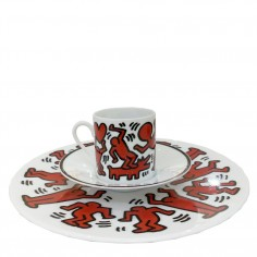 Keith Haring - Red on White Espresso Set