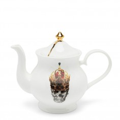 Skull in Red Crown Large Teapot