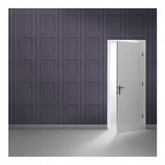 Coloured Panelling Wallpaper Amethyst