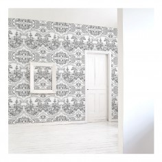 Delft Baroque Wallpaper - Black