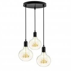 King Edison Trio Pendant Lamp - Black