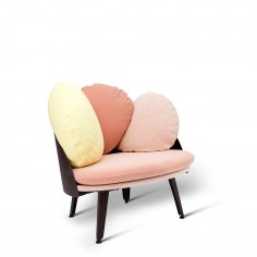 NUBILO Multicolours Armchair - Red / Coral-white-yellow