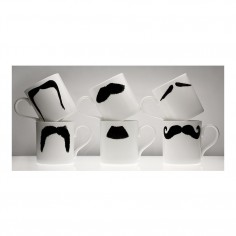 Moustache Mug XL - Fu Magnum Black
