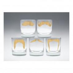 Moustache Fu Tumbler Gold