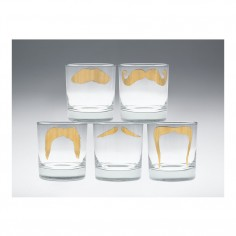Moustache Mustafa Tumbler Gold