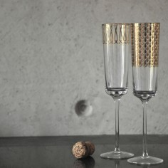 First Gold Champagne Glass | Set 1