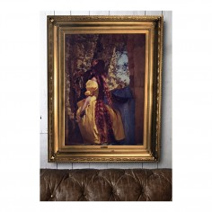 'Rapunzel' Ornate Framed Canvas Print