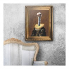'Señora Emanuela' Ornate Framed Canvas Print