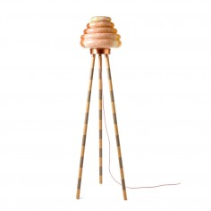 Colmena Floor Lamp - Wood veneer legs