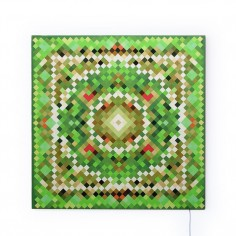 Glo-Canvas Pixel Tapestry Green 90x90cm