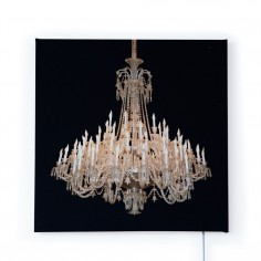 Grand Chandelier Glo-Canvas Black