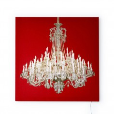 Grand Chandelier Glo-Canvas Red